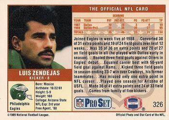 Luis Zendejas wwwtradingcarddbcomImagesCardsFootball32423