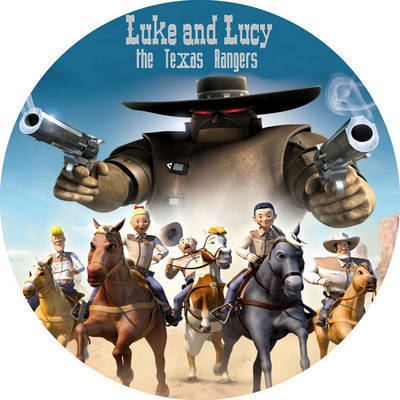 Luke and Lucy: The Texas Rangers Luke And Lucy The Texas Rangers 2009 DVD Disc Cover id7928 Covers