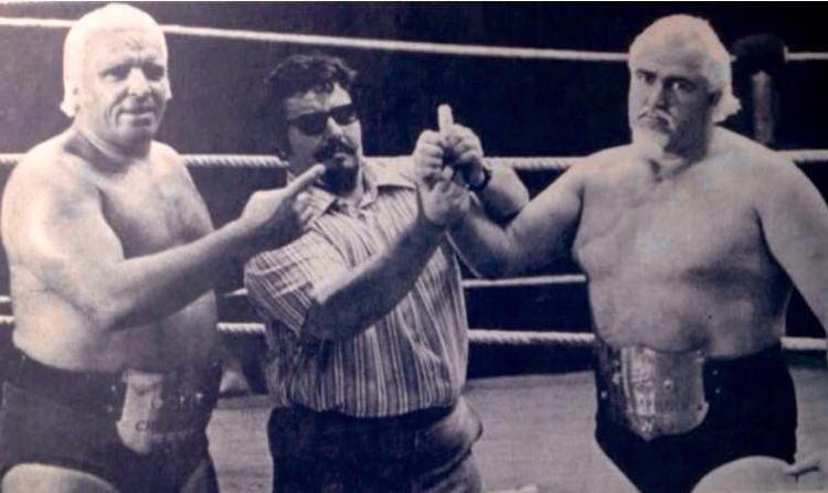 Luke Graham (wrestler) Albano with Luke Graham and Tarzan Tyler WWWF and WWF Wrestling