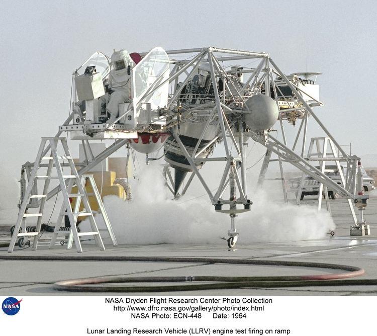 Lunar Landing Research Vehicle LLRV ECN448 Lunar Landing Research Vehicle LLRV engine test