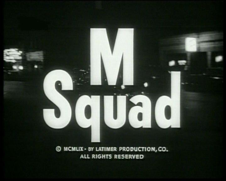 M Squad CTVA US Crime quotMSquadquot MCA RevueNBC195760 starring Lee Marvin