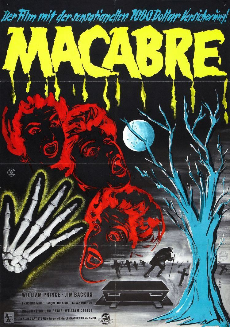 Macabre (1958 film) Poster for Macabre 1958 USA Wrong Side of the Art