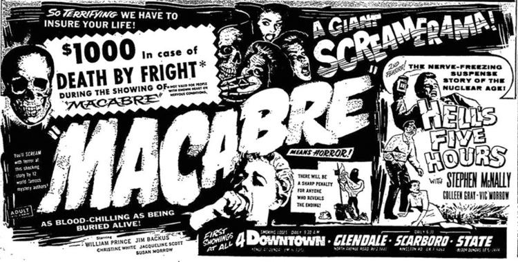Macabre (1958 film) Macabre William Castle The Grindhouse Cinema Database