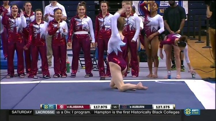 Mackenzie Brannan Mackenzie Brannan Alabama 2016 Floor vs Auburn 9875 YouTube