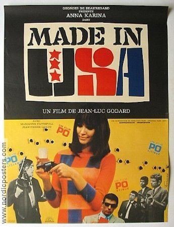Made in U.S.A. (1966 film) Made in USA poster France 1966 Marianne Faithfull director JeanLuc