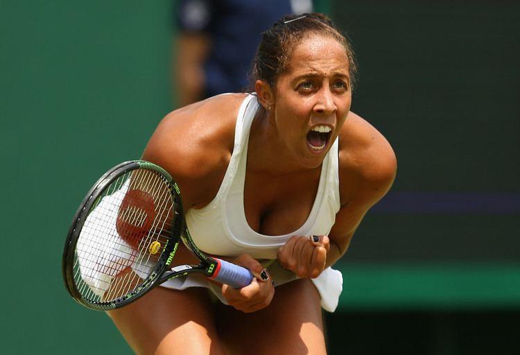 Madison Keys Wimbledon 2015 Day 7 Madison Keys Coco Vandeweghe Reach