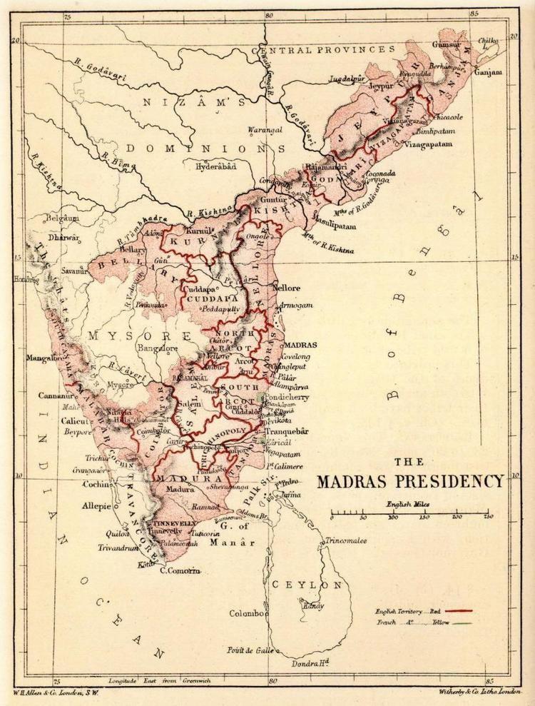 Madras Presidency Madras Prsidentschaft Wikiwand
