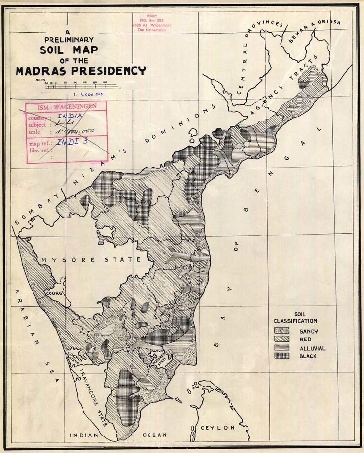 Madras Presidency A preliminary soil map of the Madras presidency ESDAC European