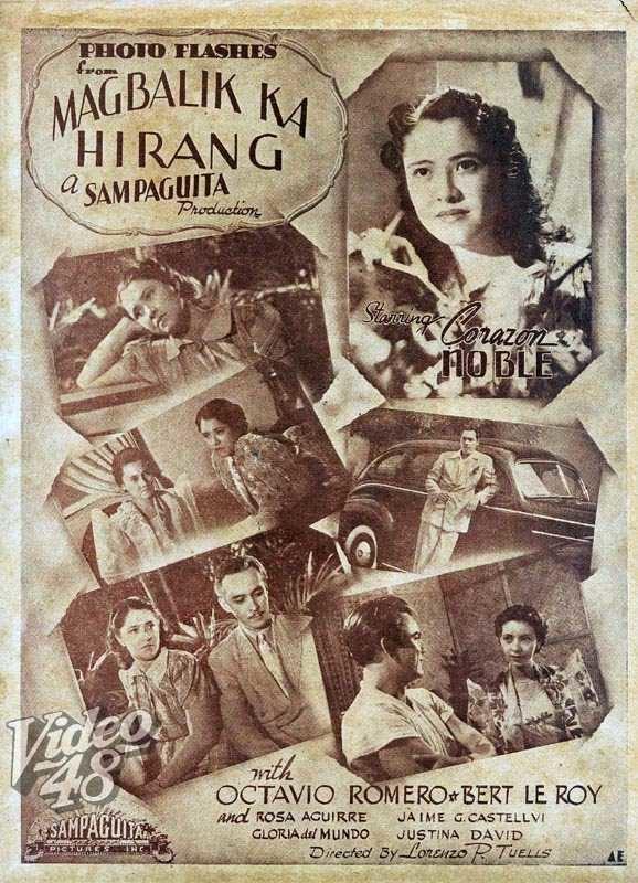 Rosa Aguirre, Corazon Noble, Lorenzo P. Tuells, Octavio Romero, and Jamie Castellvi in Magbalik ka, hirang (1940)