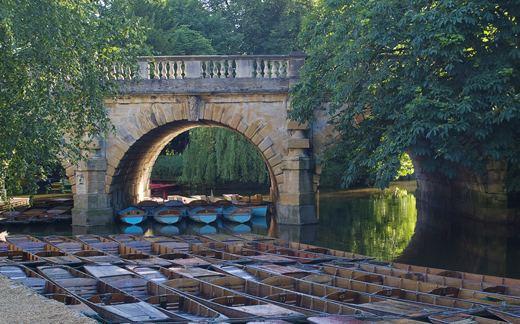 Magdalen Bridge Punts at Magdalen Bridge canvas print