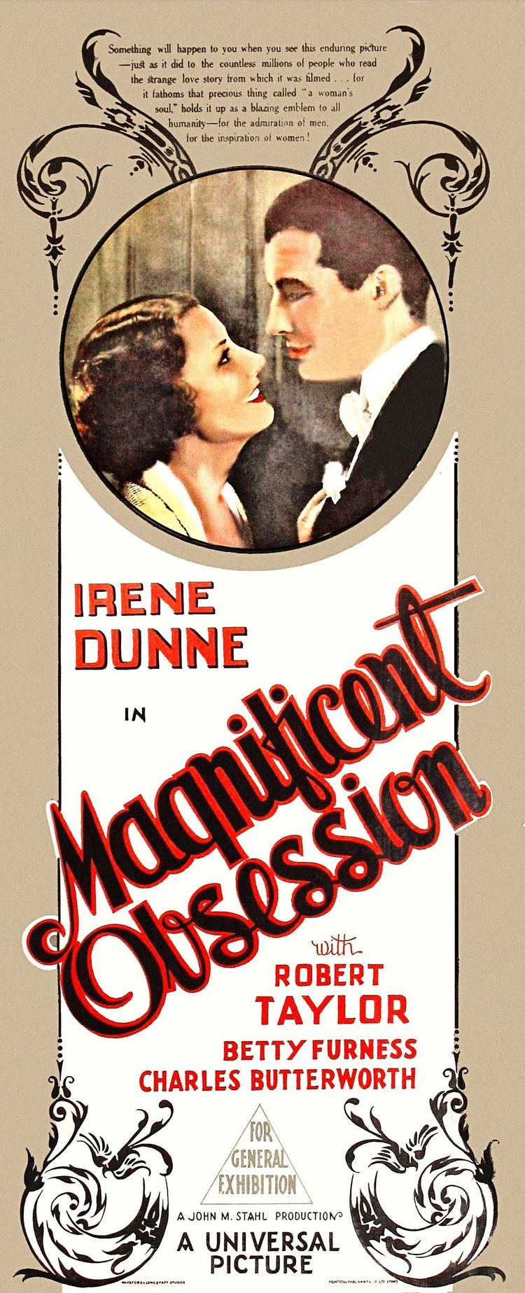 Magnificent Obsession (1935 film) Magnificent Obsession 1935