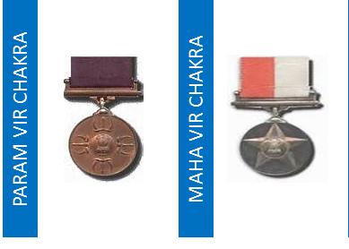Maha Vir Chakra Param Vir Chakra Recipients Kargil War 1999 Param Vir Chakra