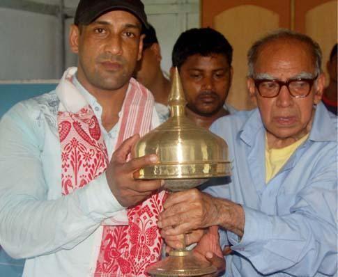 Mahadev Deka Mahadev Deka felicitated Assam Times