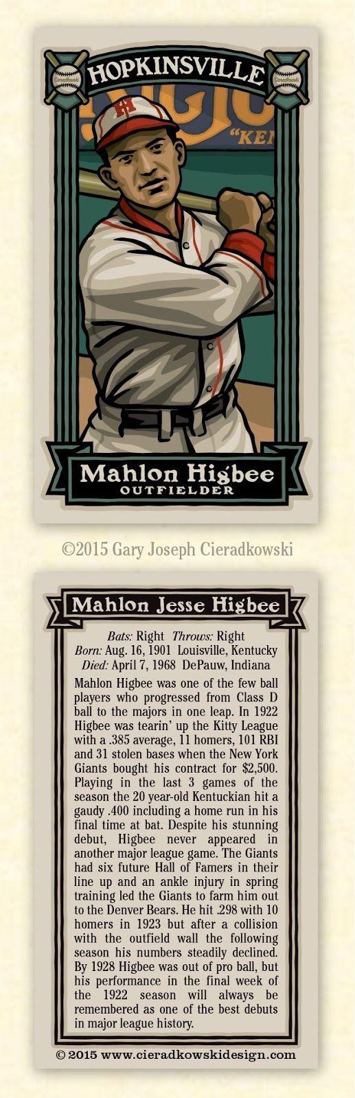 Mahlon Higbee The Infinite Baseball Card Set 204 Mahlon Higbee To the Major