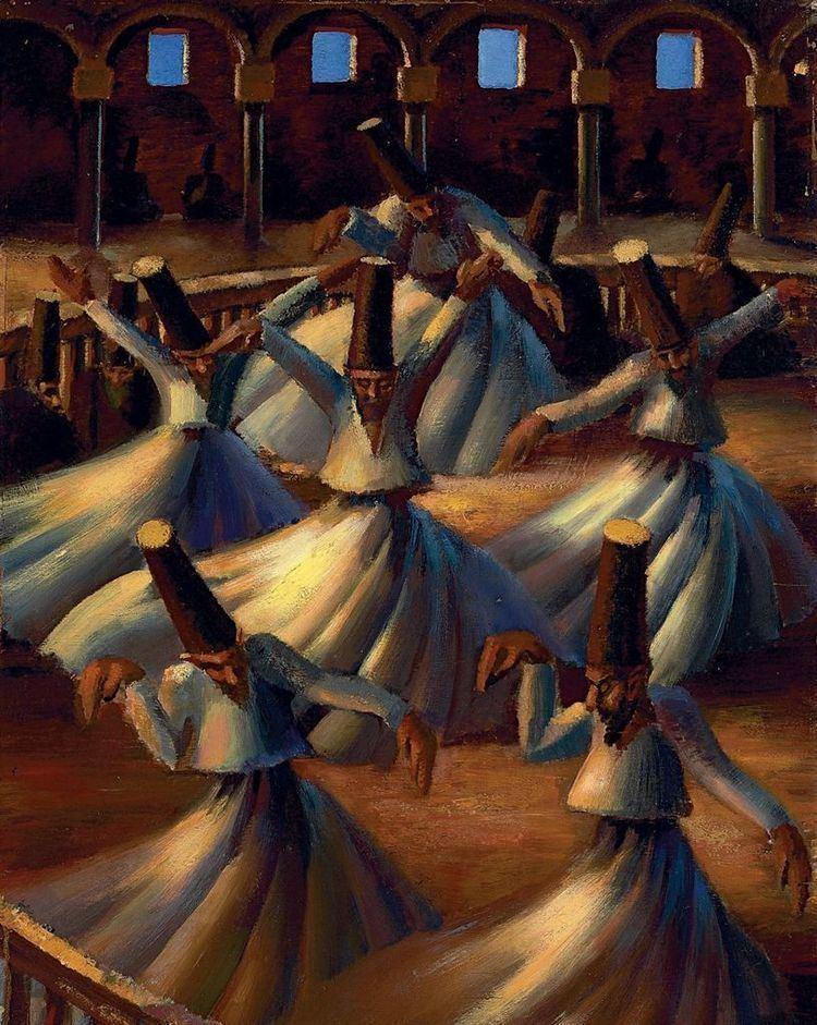 Mahmoud Sa'id Mahmoud Said Egyptian 18971964 The Whirling Dervishes 1920s
