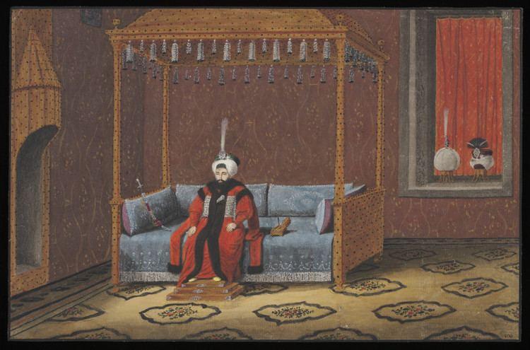 Mahmud II Portrait of Sultan Mahmud II enthroned Anonymous Greek