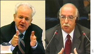 Mahmut Bakalli BBC News EUROPE Milosevic crossexamination Excerpts