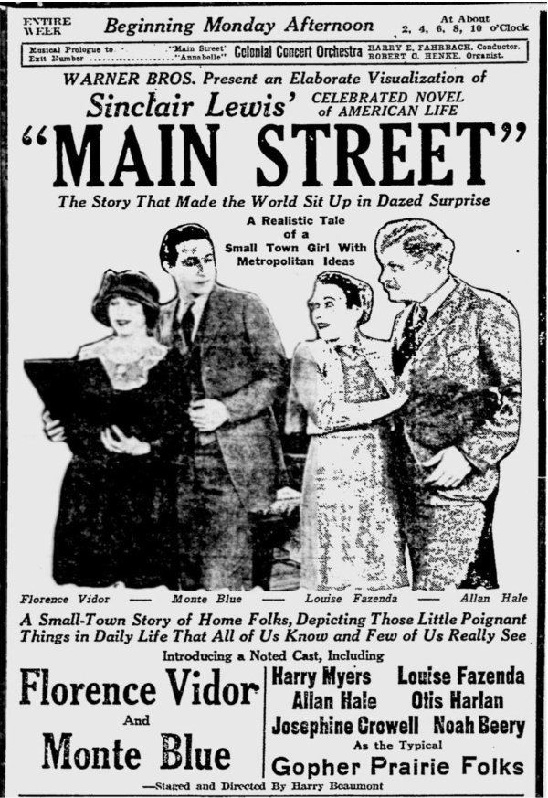 Main Street (1923 film) I Married a Doctor 1936 Attempts to Update Main Street Immortal
