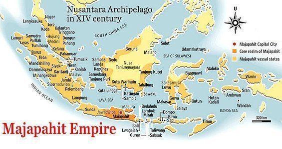 Majapahit indahnesiacom The Majapahit kingdom Map of the Majapahit