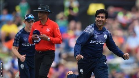 Cricket World Cup 2015 Scotland send home Majid Haq BBC Sport
