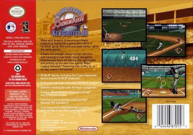 80aa11c708 Major League Baseball Featuring Ken Griffey Jr. Major League Baseball  Featuring Ken Griffey Jr Box