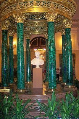 Malachite Room of the Winter Palace This is the Malachite Room of the Winter Palace designed by the