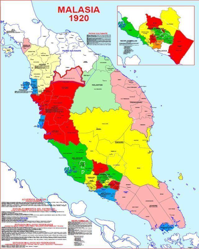 Malay Peninsula Hisatlas Map of the Malay Peninsula 1920