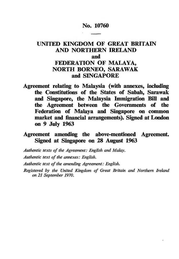 Malaysia Agreement