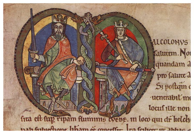 Malcolm IV of Scotland FileMalcolm IV King of Scotland charter to Kelso Abbey 1159