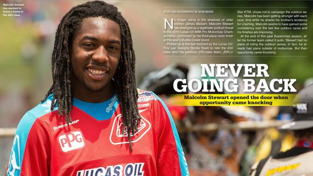 Malcolm Stewart (Supercross) MX Interview Malcolm Stewart Cycle News