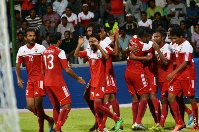 Maldives national football team SunOnline Friendly match Maldives 7