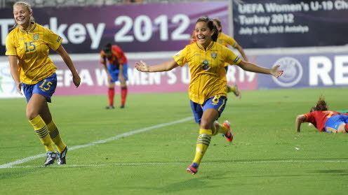 Malin Diaz F19 EM Slutspel Matchinformation Sverige mot Spanien 2012