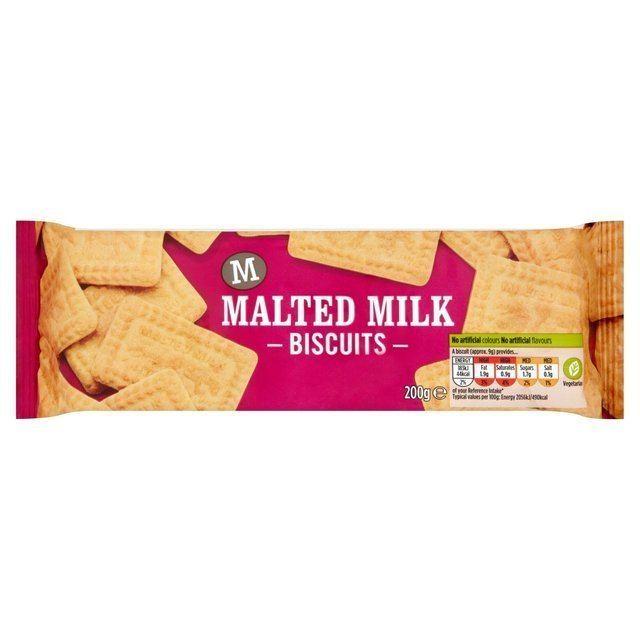 Malted milk (biscuit) Morrisons Morrisons Malted Milk Biscuits 200gProduct Information