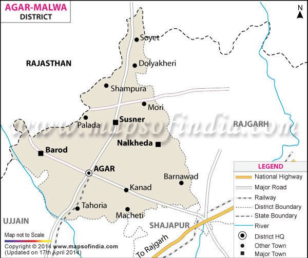 Malwa Agar Malwa District Map