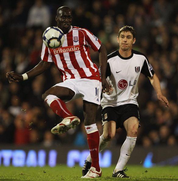 Mamady Sidibé Mamady Sidibe Pictures Fulham v Stoke City Premier League