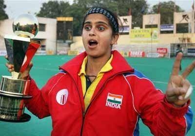 Mamta Kharab Indian hockey team captain Mamta Kharab holds the trophy