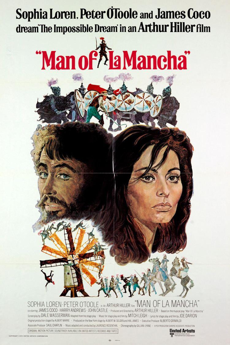 Man of La Mancha (film) wwwgstaticcomtvthumbmovieposters23p23pv8
