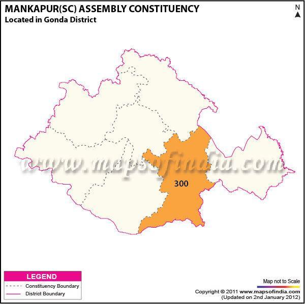 Mankapur Mankapur SC Assembly Constituency Map Mankapur SC Election 2017