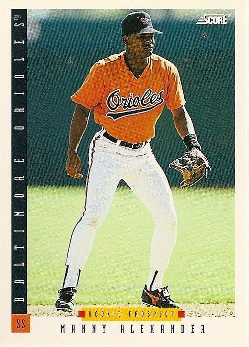 Manny Alexander Orioles Card O the Day Manny Alexander 1993 Score 234