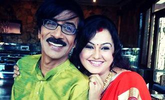 Manobala Hot actress Sona Haiden Manobala husband wife in Virumandikkum