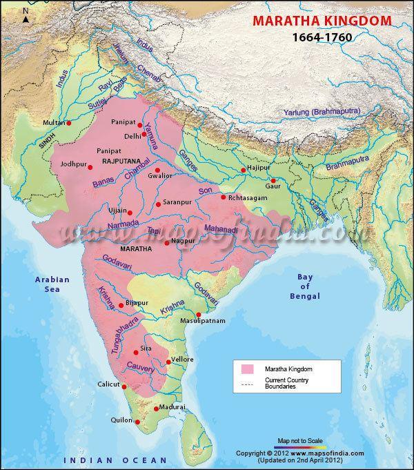 Maratha Empire Maratha Empire Map