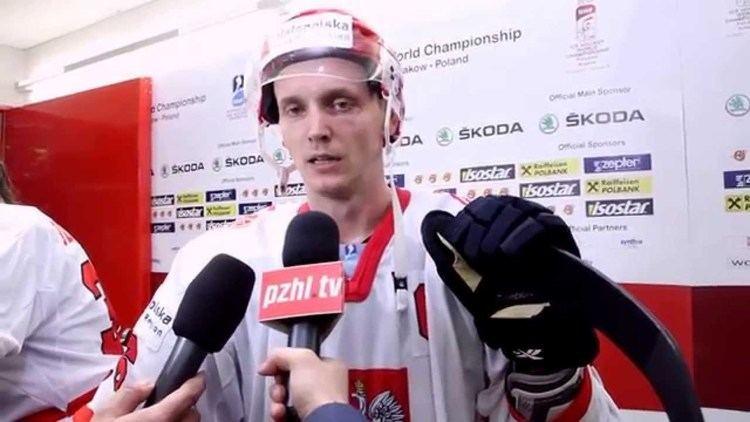 Marcin Kolusz wwwpzhltv Marcin Kolusz po meczu z Japoni na M 1A