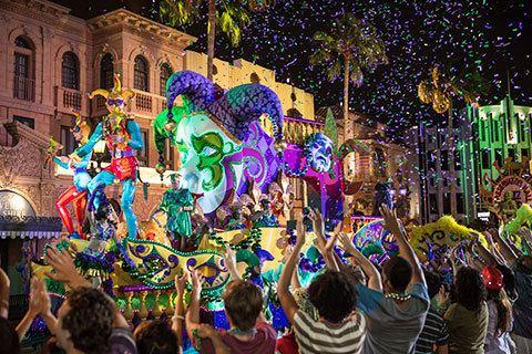 Mardi Gras Mardi Gras at Universal Orlando Florida