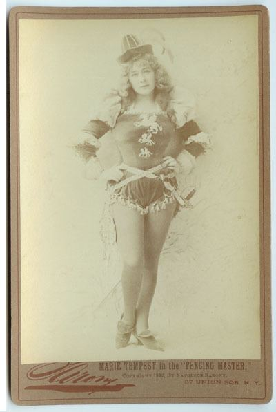 FENCING MASTER STAGE THEATRE 1892 HARPER/'S WEEKLY FENCING ACTRESS MARIE TEMPEST