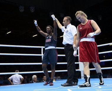 Marina Volnova Claressa Shields beats Kazakhstan39s Marina Volnova goes