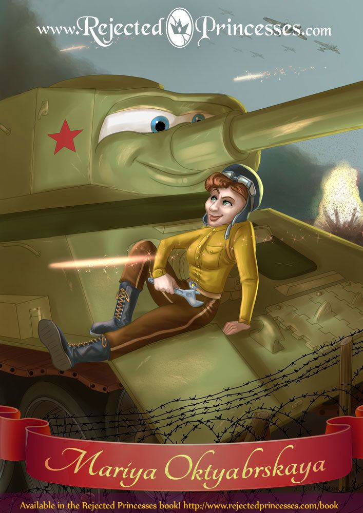 Mariya Oktyabrskaya Mariya Oktyabrskaya The TankDriving Widow