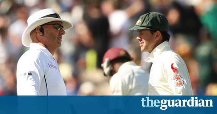Umpire Mark Benson walks out on Australia v West Indies in Adelaide