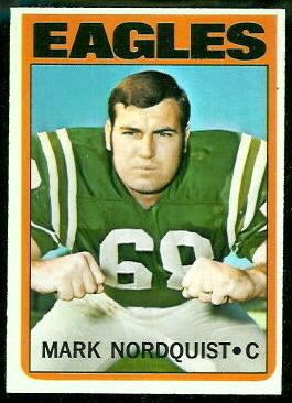 Mark Nordquist wwwfootballcardgallerycom1972Topps102MarkNo