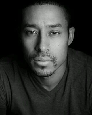 Mark Taylor (Canadian actor) close-up photo (black and white)