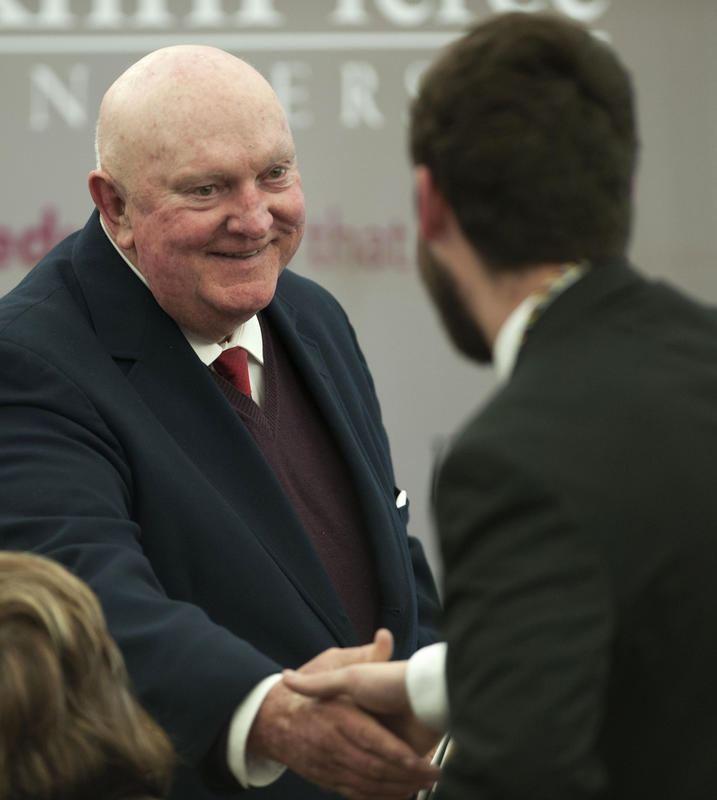 Marlin Fitzwater Former White House press secretary helps honor Franklin